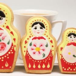 Комплект формички за сладки Матрьошки