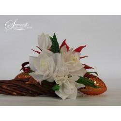Курс моделиране на цветя с вафлена хартия - Гардения