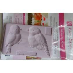 Силиконов отпечатък - Влюбени птици