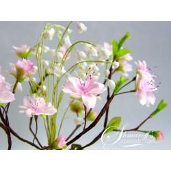 Курс моделиране на цветя с вафлена хартия - вишнева клонка и момнини зълзи