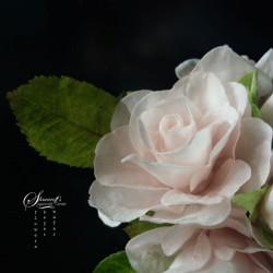 Комплект венчелистчета и листа за онлайн урок Роза