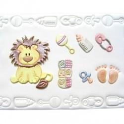 Комплект за бебе с лъвче