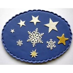Комплект-снежинки и звезди