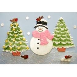 Коледен комплект - снежко и елха
