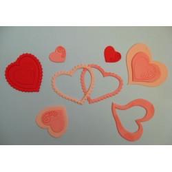 Комплект - Сърца и спирали