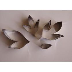 Метални формички за божур листа - малки