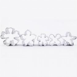 Комплект от 5 метални формички за цветя