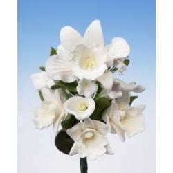 Букет с орхидеи и кала