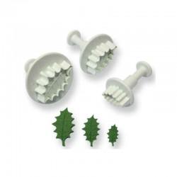 Комплект формички с бутало за оформяне на Джел /Holly Leaf