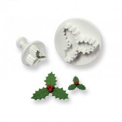 Комплект формички с бутало оформяне на Коледни листа
