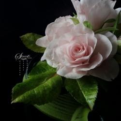 Онлайн урок - Роза от вафлена хартия с Петя Шмарова