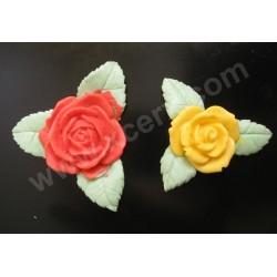 Цветя - роза с листа