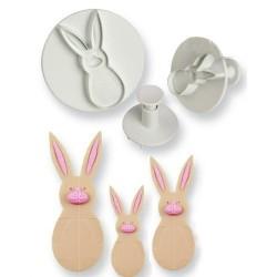 Комплект от 3 формички за направа на зайци