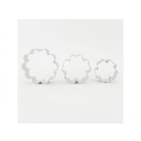 Комплект от 3 метални формички за цветя