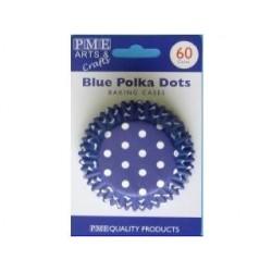 Blue Polka Dots - Хартиени формички за мъфинс