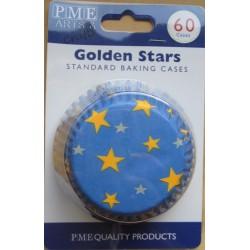 Golden Stars - Хартиени формички за мъфинс